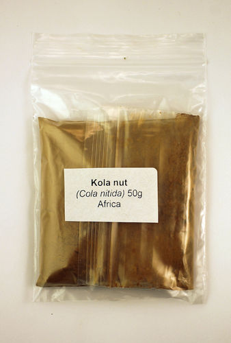 Kola nut (powdered) 50g